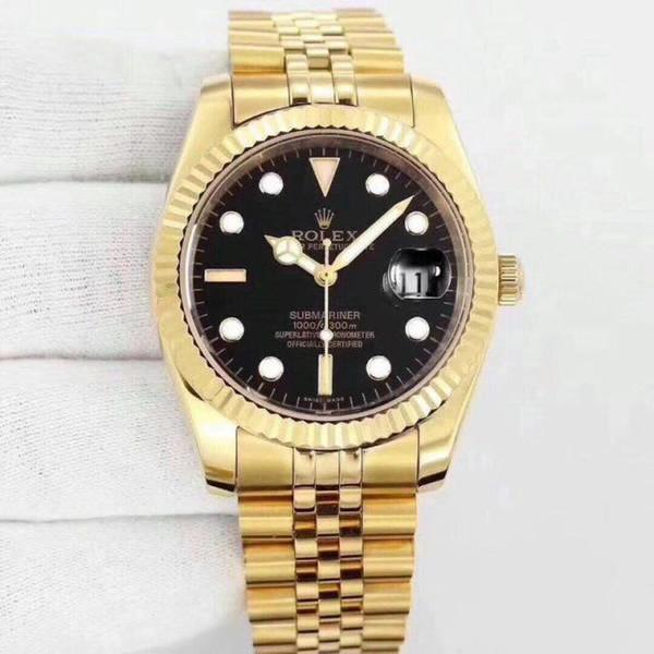 Di alta qualità quarzo di marca in acciaio inox 36mm aaa mens di lusso orologi all'ingrosso moda giorno data uomini vestito orologio vendita calda orologio maschile regalo