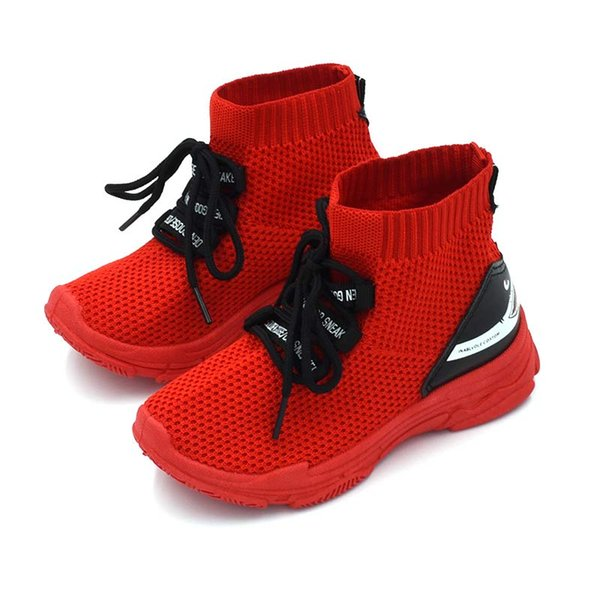 Мужская повседневная Детская обувь для девочек обувь мальчиков кроссовок дети носок обуви дышащая сетка скольжения на бег спортивная обувь #7