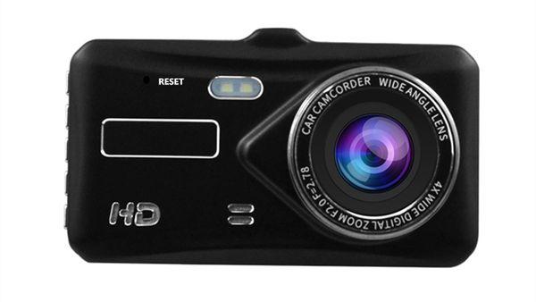 "4.0"" IPS touchscreen car DVR driving data recorder car dash camera full HD 1080P 2Ch 170° wide view angle night vision G-sensor"