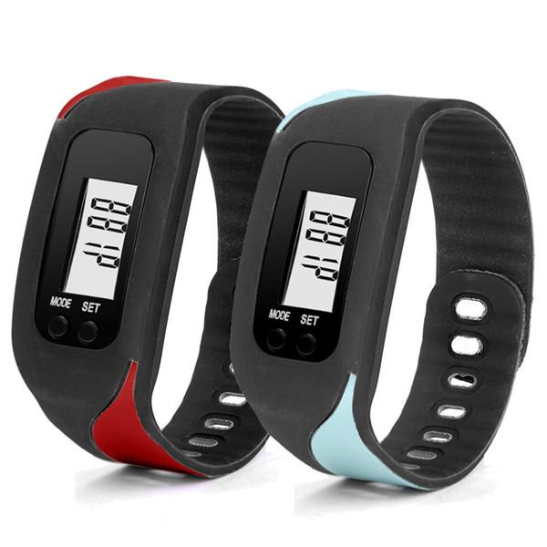 OTOKY Digital LCD Pedometer Run Step Walking Distance Calorie Counter Watch Bracelet Digital Wristwatches Sport Clock NI02