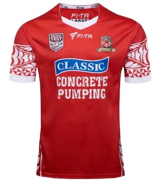 TONGA RUGBY LEAGUE WORLD CUP 2017 HOME JERSEY 17 18 New Zealand TONGA rugby Jerseys TONGA RUGBY LEAGUE 2018 PACIFIC TEST JERSEY size S-3XL