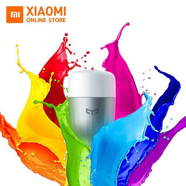 Xiaomi Yeelight LED Akıllı Ampul (Renk) E27 9 W 600 Lümen Mi Işık Xiaomi Mijia Akıllı Telefon WiFi Uzaktan Kumanda