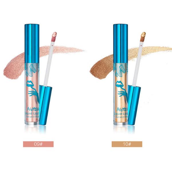2018 HUAMIANLI 12 Color Shimmer Liquid Lip Gloss Matte Batom Makeup Metallic Lipstick Long Lasting Lips Moisturizer Glitter Lipgloss