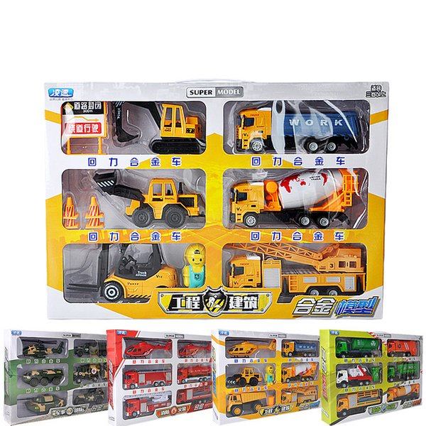 Alloy Car Model Toy, Military Car, Machineshop Truck, Fire Fighting Truck, Express Truck, Kid' Party Birthday' Gifts, Collecting, Decoration