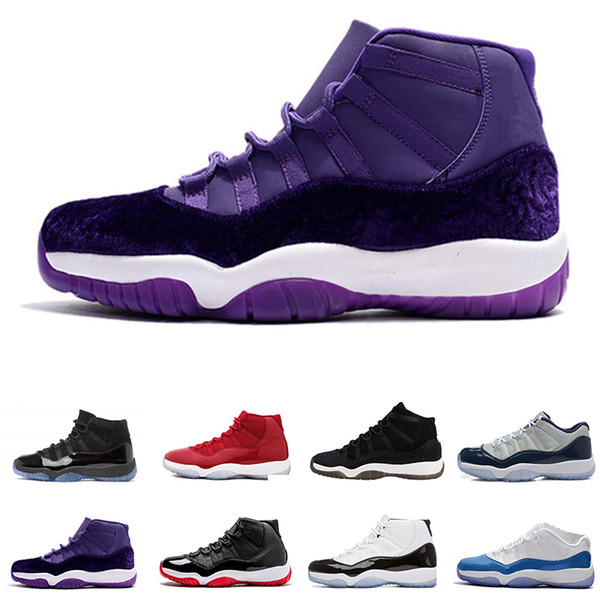 GS Midnight Navy 11 Gym Red PRM Heiress Black Win like 96 82 Velvet Heiress Purple jam concord bred unc Men Women Basketball Shoes Sneakers