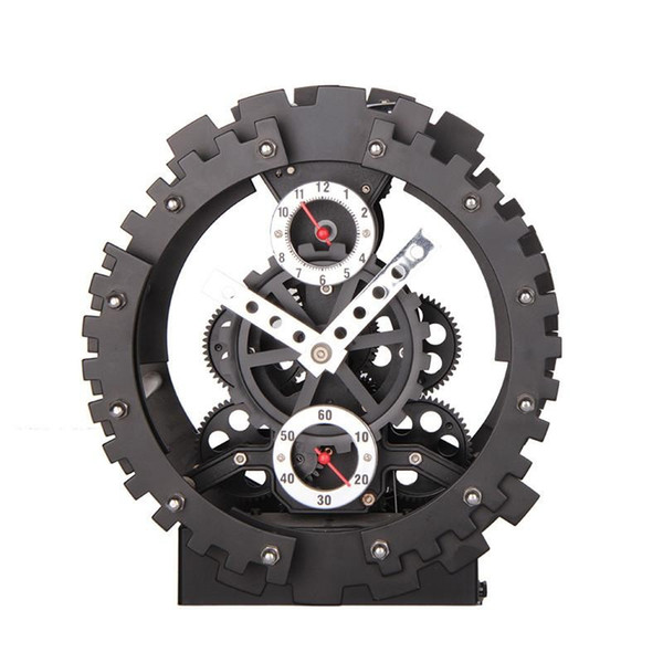 Acheter En Gros Miao Ke 2018 Nouvelle Arrivée Mode Creative Grande Vitesse Horloge Murale Engrenage Mécanique Muet Horloge à Quartz Décor à La Maison