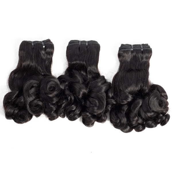 Brazilian Malaysian Indian Peruvian Funmi Hair 10-20inch Rose Curl Spring Curl Magical Hair extensions 80g/piece Remy Virgin Human Hair