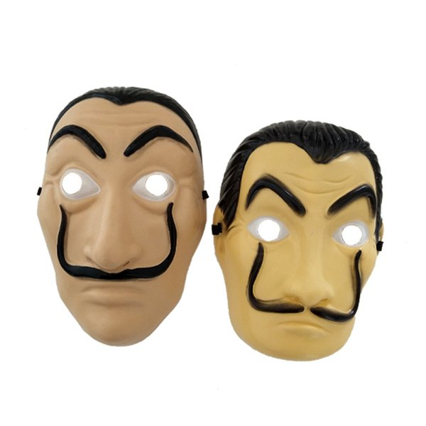 Halloween Mens Scary Mask La Casa De Papel Salvador Dali Cosplay Costume Accessories Male Funny Mask