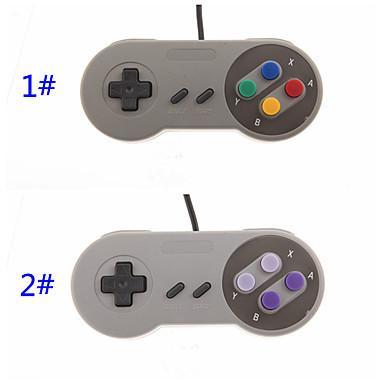 Klassischer USB PC Steuerpult Gamepad Joypad Steuerknüppel-Wiedereinbau für Super-Nintendo SF für SNES NES Mac Tablette PC xv10 200pcs / lot