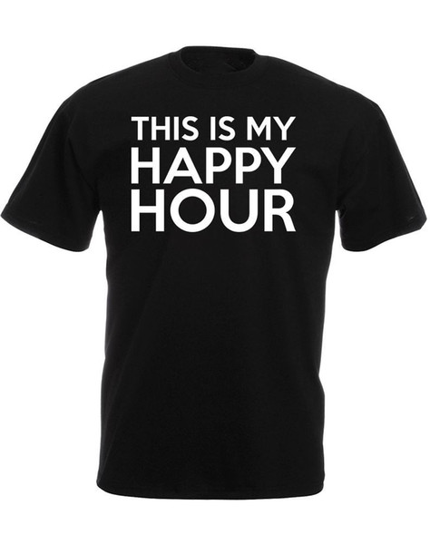 T Shirt Quotes This Is My Happy Hour Crew Neck Broadcloth Short T Shirt For  Men Designer Mens T Shirt Really Cool Sweatshirts From Redbubbleshirt, ...