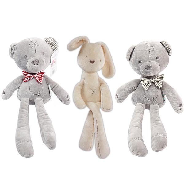 Niños Conejo de Pascua Juguetes de peluche Animales de peluche Suave conejito Oso Muñecas para dormir Juguetes para niños pequeños Regalos para niños Oso Juguetes de peluche
