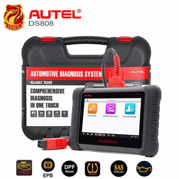 Autel MaxiDAS DS808 OBD2 Diagnóstico Scanner Sistema Completo Ferramenta de Diagnóstico Automotivo com Programação Chave ECU codificação Atualização Gratuita