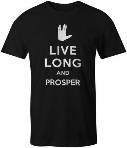 Live Long and Prosper Tee T-Shirt Star Trek Spock Leonard Nimoy Keep Calm MENS T-SHIRT Tee Printed Hip Hop Short Sleeve
