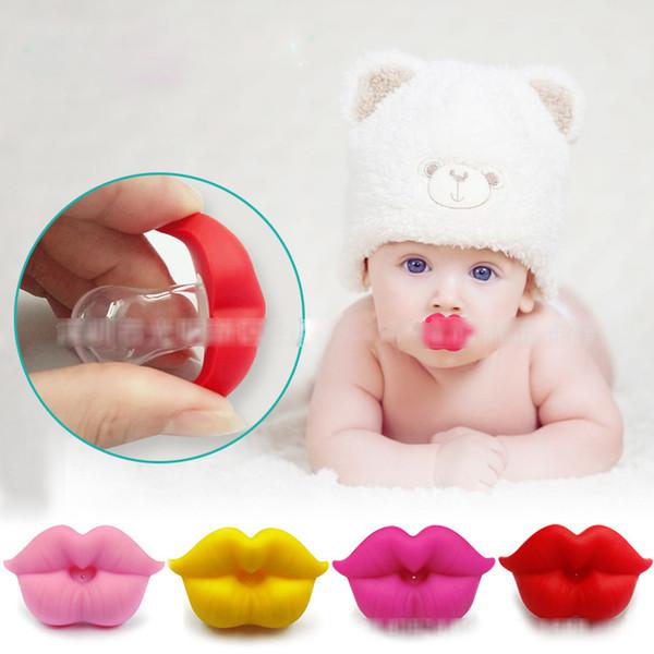 Neonati divertenti Grandi labbra rosse Ciucci Ciucci in silicone per neonati Ciucci per bambini 5 colori Succhietto Capezzoli C4493
