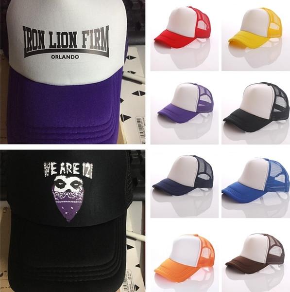 NewTrucker Kap Yetişkin Örgü topu Boş Trucker Şapka Caps Snapback Şapka Özel Güneş Kabul Yetişkinler için Güneş şapka kap Güneş şapka Özel LOGO T1C331-2