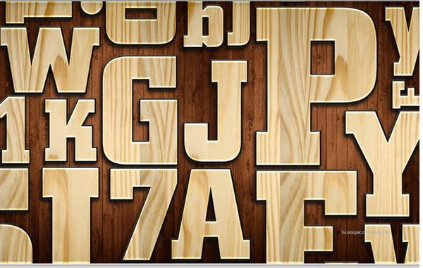 Photo Wallpaper di alta qualità 3D stereoscopico Vintage grano di legno in rilievo lettera 3D TV sfondo muro di arte murale per soggiorno grande dolore