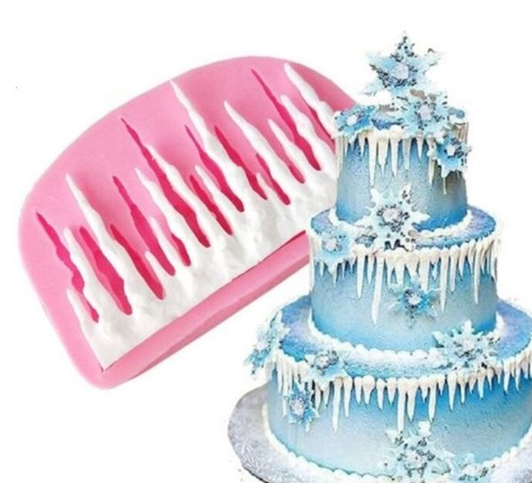 2019 3d Cold Ice Shape Silicone Mold Fondant Cake Mold Decorating Bakeware Christmas Cake Decoration From Crown123 2 32 Dhgate Com