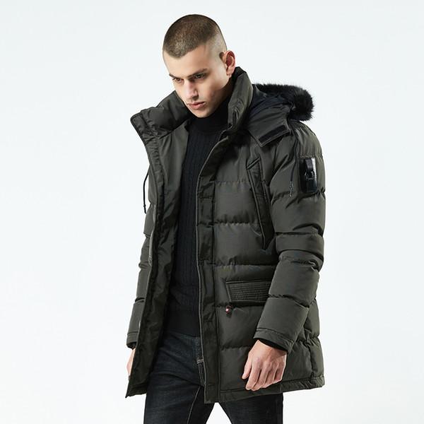 top popular Wholesale Stereoscopic Bag Mens Designer Winter Coats New Style Winter Jacket Men Medium Length Thickening Mens Winter Jacket 2019