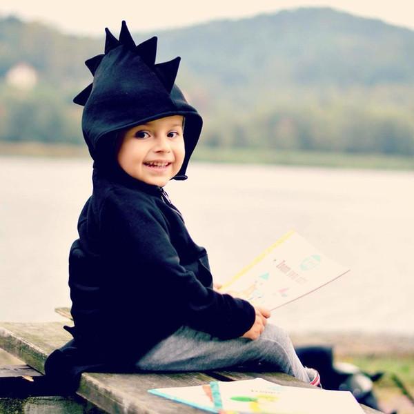 Bebê Crianças Vestuário Meninos Hoodies Dinossauros das Crianças Meninas Meninos Moletom Com Capuz Novo Outono Inverno Bonito Roupa Dos Miúdos Outfits Tops
