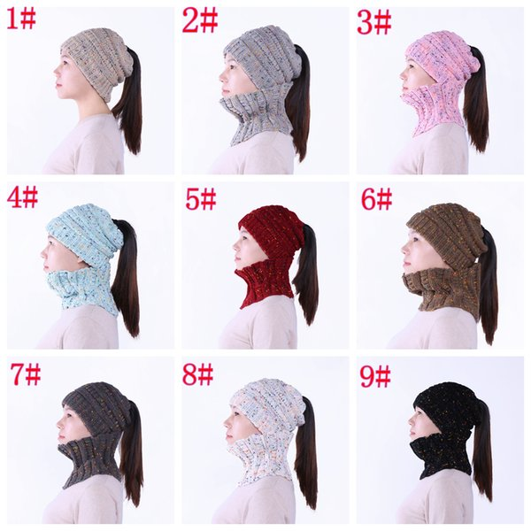 Compre 9 Estilos 2 Unids / Set Knit Beanie Hat Scarf Girls Trendy ...