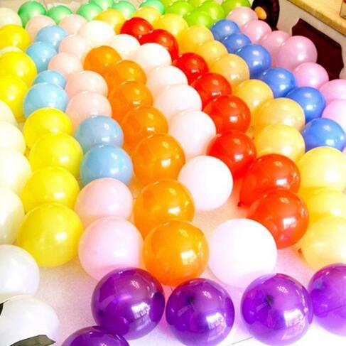 10 Zoll 1.2gram Partei-Dekoration-Latex-Ballons verdicken basierte perlglänzende Hochzeitsgeburtstagsfeier-Versorgungsmaterialien runder festlicher Ballon 100pcs / lot