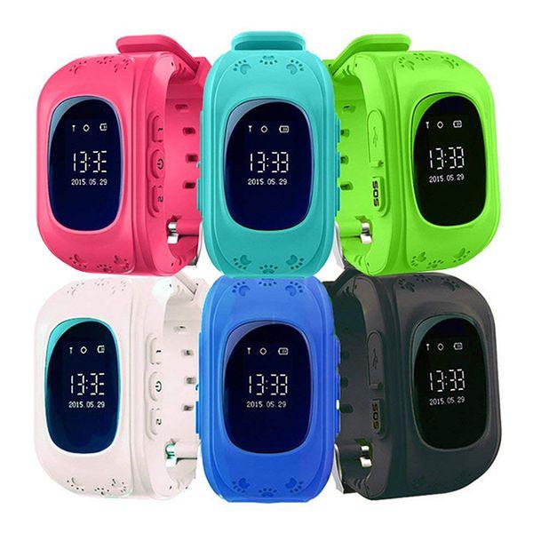 Q50 Kids Smart Watch LBS Местоположение Трекер SOS Вызов SmartWatch Поддержка SIM-карты для iOS Android-смартфон