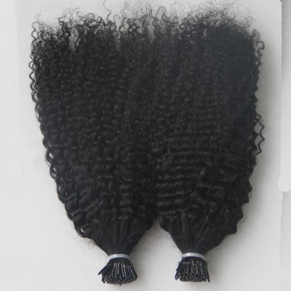 Виргинские монгольские афро странные вьющиеся волосы на всю голову 200 г Я советую наращивание человеческих волос предварительно склеенные кератиновые палочки наращивание волос 200S