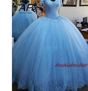 ANGELSBRIDEP Ball Gown Quinceanera Dresses 2018 Charming Appliques Corset Full-Length Womens Sweet 16 Debutante Gowns Hot Sale