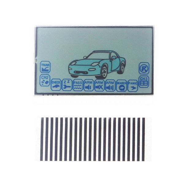 Free shipping A6 LCD display Train starline A6 car remote control LCD display flexible cable