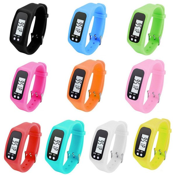 2018 New High Quality Long-life battery Multifunction 6 Colors Digital LCD Pedometer Run Step Calorie Walking Distance Counter