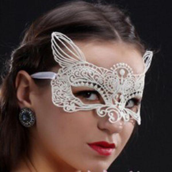 rechercher l'original couleurs harmonieuses meilleur choix Acheter Blanc Noir Chat Masque Dentelle Partie Sexy Masque Mascarade Robe  Carnaval Pas De Stéréotypes Livraison Gratuite De $21.23 Du Herbertw | ...