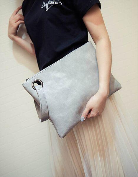 best selling Fashion solid women's clutch bag leather women envelope bag clutch evening bag female Clutches Handbag Immediately shipping