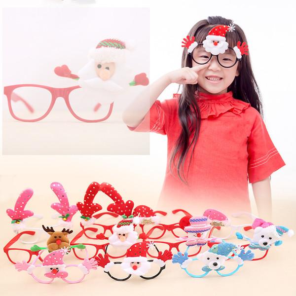 Christmas Glasses Frame Cute Kids Adult Ornaments Cartoon Decor Evening Party Toy Child Eyeglasses Novelty Xmas Rabbit Gift LE69