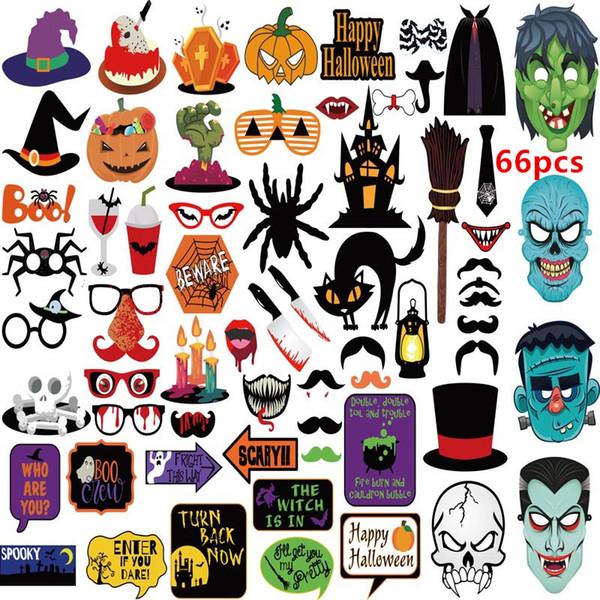 22 pcs 59 pcs 66 pcs Hot Halloween Decoração Prop Foto Adereços Assustador material party foto Decoração DHL Livre shipping