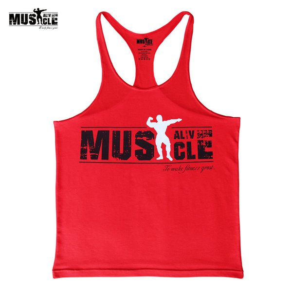 e03068e0bd640 2018 Summer Dress Sportswear Brand Clothing Tank Top Men 'S Fitness  Stringer Bodybuilding Singlets Cotton Muscle Shirts Sleeveles