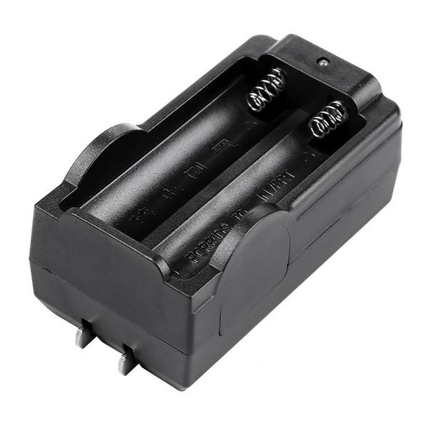 Cargador inteligente doble para cargadores de base de pared para el hogar de la batería de linterna recargable de 3.7V 18650 Li-ion - Sólo enchufe de EE. UU.