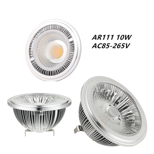 12W AR111 Светодиодные лампы G53 24 градусов 50W-75W Галогенные Замена Cree COB LED G53 AR111 Рефлектор Точечный светильник для Встраиваемый Потолочный светильник Trac