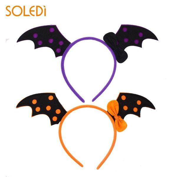 Halloween Bats Hair Hoop Headband Party Costume Props Headwear Cute Lovely