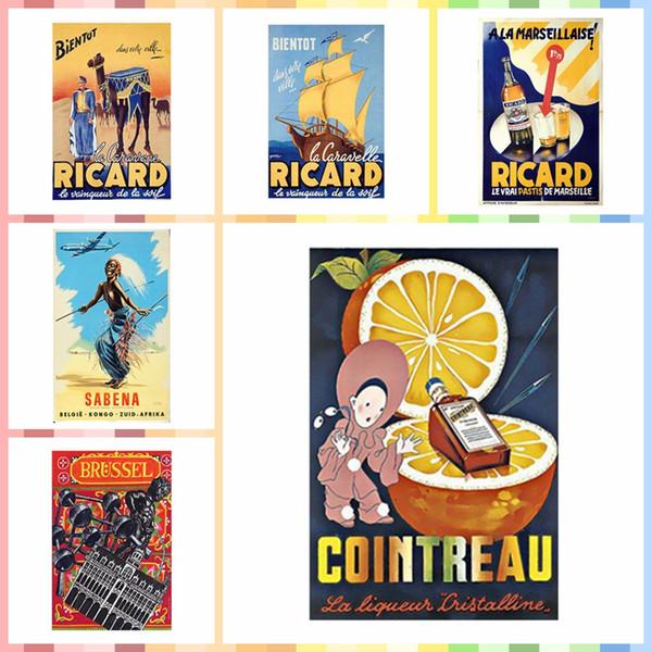 Cointreau Liqueur advertisment Retro Metal Wall Plaque Vintage sign