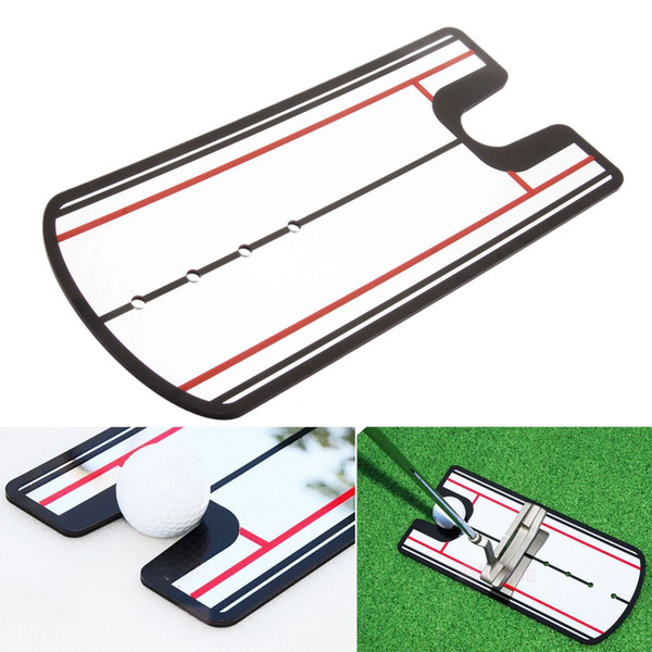 Golf Putting Mirror Golf Swing Straight Practice Golf Putting Alineación de espejos Training Aids Swing Trainer Eye Line 31 X 14.5cm