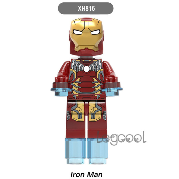 Marvel Super Heroes iron man XH 816 Infinity War Thanos Guardians of Galaxy Spider Man Corvus Glaive Avengers Building Blocks Toys Figures