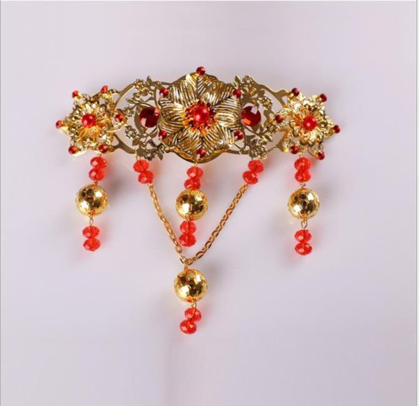 Chapelaria traje Retro ornamento enfeites de borboleta franja acessórios de casamento de cristal de pérola