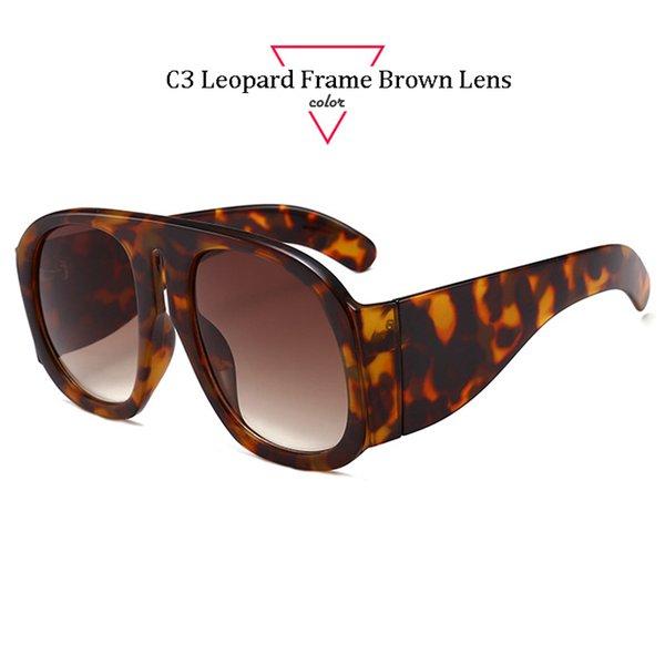 C3 Leopard Frame Brown Lens