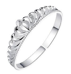 Hot fashion exquisite 925 sterling silver Bangles noble charm cuff Crown bracelet lady wedding jewelry