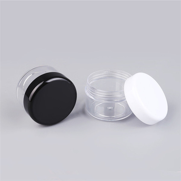 Acheter Pas Cher Effacer Pet Mini Cosmétique Vide Pot Pot Jar Fard à Paupières Maquillage Visage Crème Contenant Portable Rechargeable Bouteilles Jar