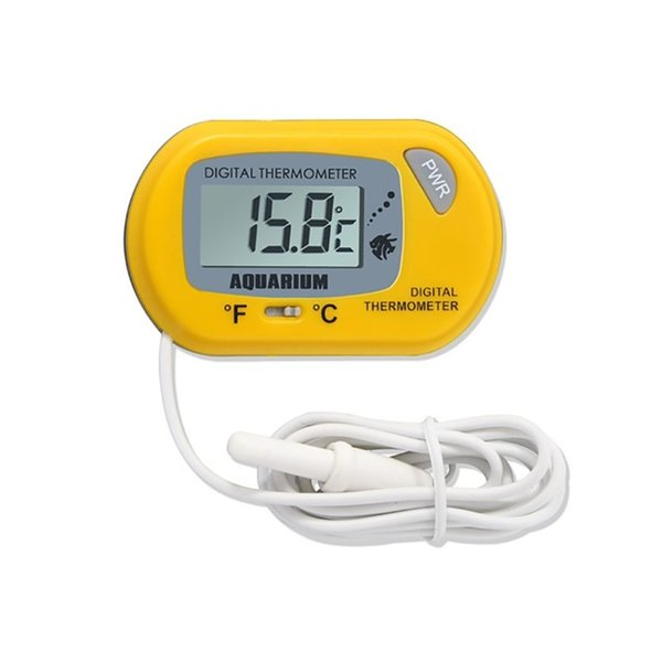 high quality LCD Digital Aquarium Thermometer with Probe Suction Cup Fish Tank Water Electronic Thermometer Measurement