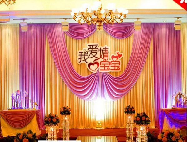 20ft*10ft Ice silk шампанское свадебный фон Хабар партия шторы празднование этап производительности фон драпировка партия украшения поставки