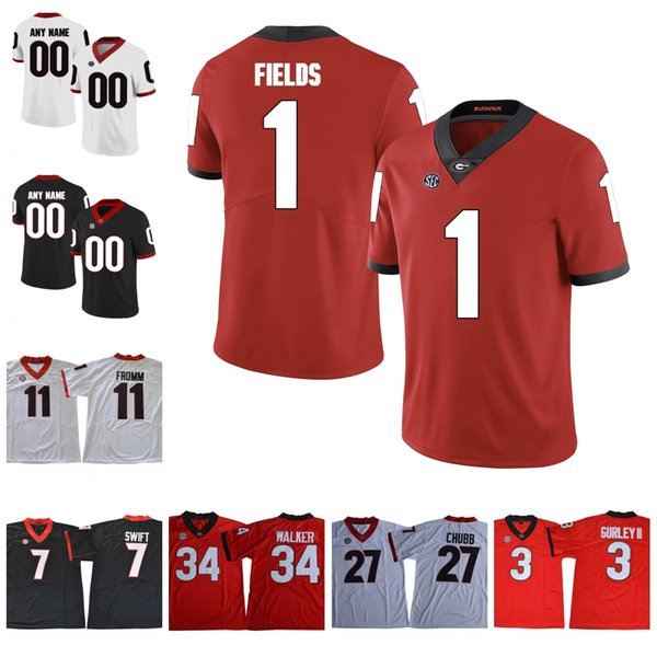 Georgia Bulldogs College Football #1 Brenton Cox 8 Tyson Campbell 3 Zamir White Custom Stitched Any Number Name UGA Jersey