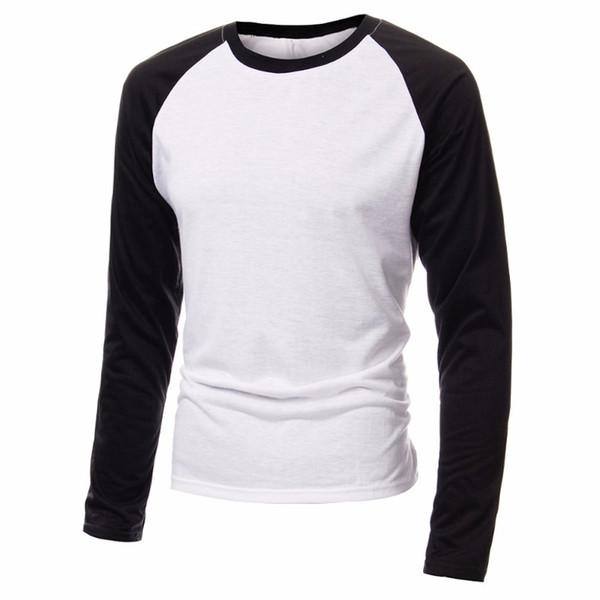 2018 Basic Raglan Tee Color Stitching Spring T shirt New Cotton Blend Soft Baseball Loose Top Tees Men T-shirts Plus Size S-4XL