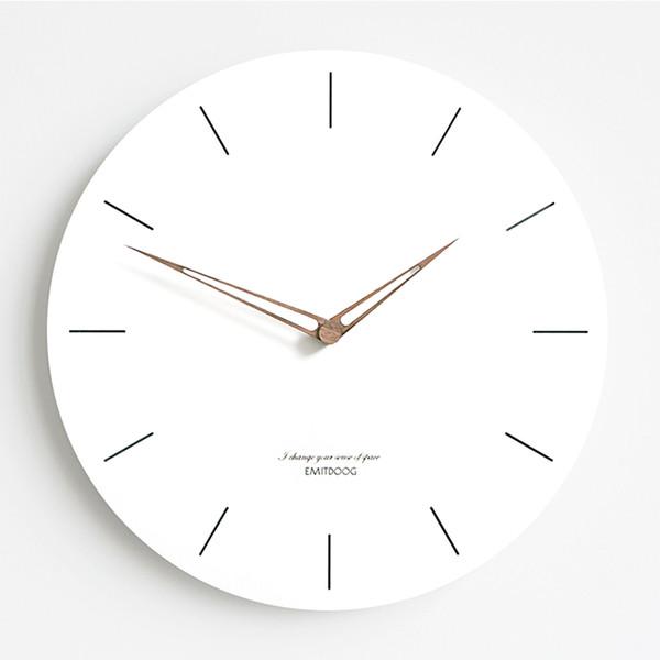 Compre Silencioso Simple Diseño Moderno Reloj De Pared Sala De Estar Reloj  Grande Reloj De Moda Reloj Cocina Cocina Decoración Home Quartz 50wc034 A  ...